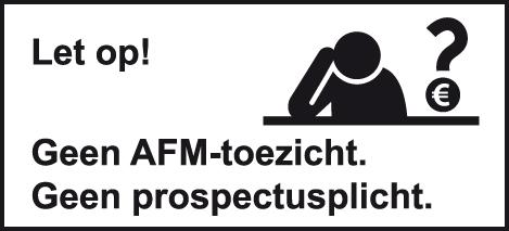 Let op! U belegt buiten AFM-toezicht. Geen vergunningsplicht voor deze activiteit.